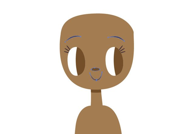 Use the Pen Tool to create the face detials