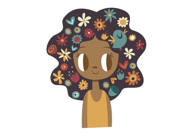 Add all of the flowers over the hair