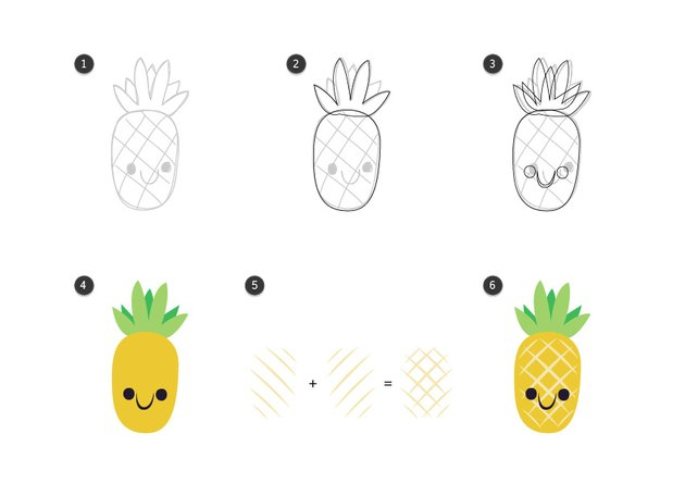 Trace the pineapple