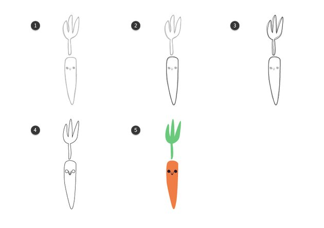 Trace the carrot