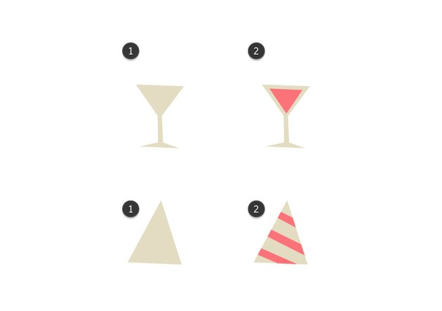 How to create background details - a glass and a hat