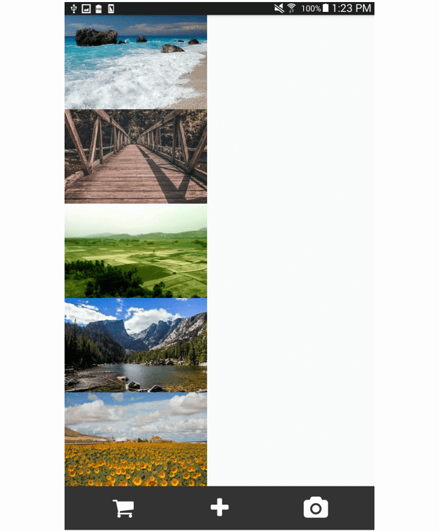 gallery page styled footer