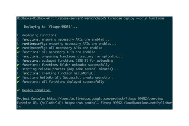 deploy firebase functions