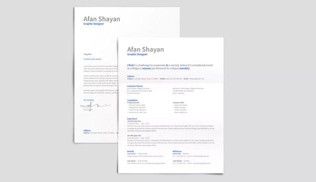 Resume with Source Sans Pro Font