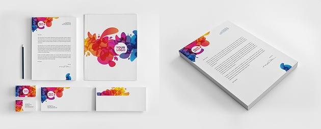 colorful letterhead