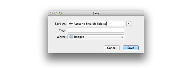 save pantones