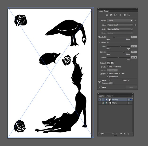 vectorized image trace