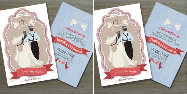 illustrated invites