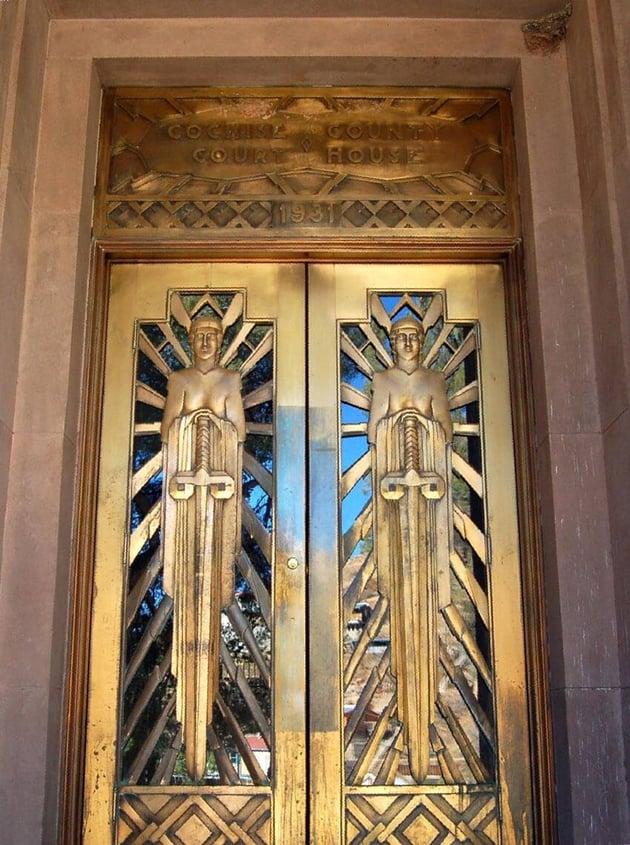 art deco court doors