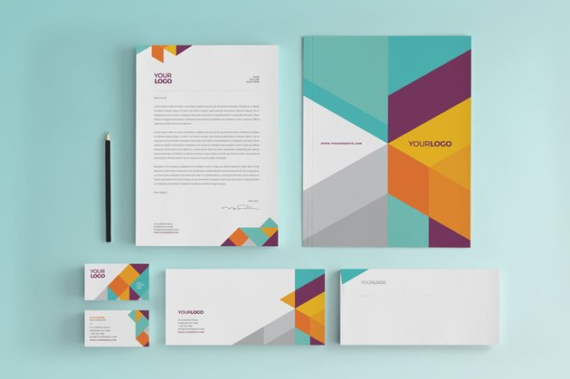 modern stationery set