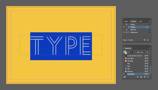 type outline text