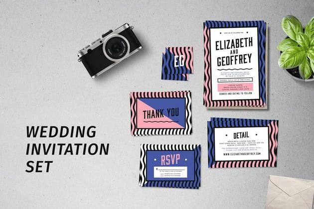 wedding invite set