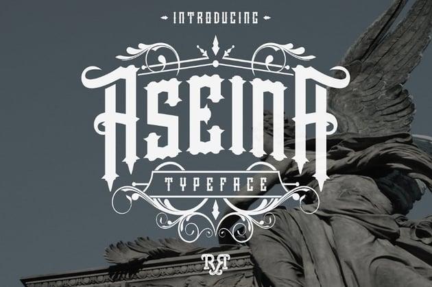 aseina decorative gothic font