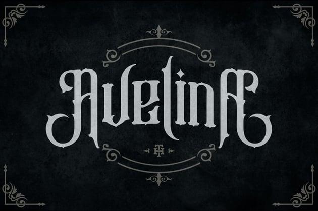 avelina decorative gothic font