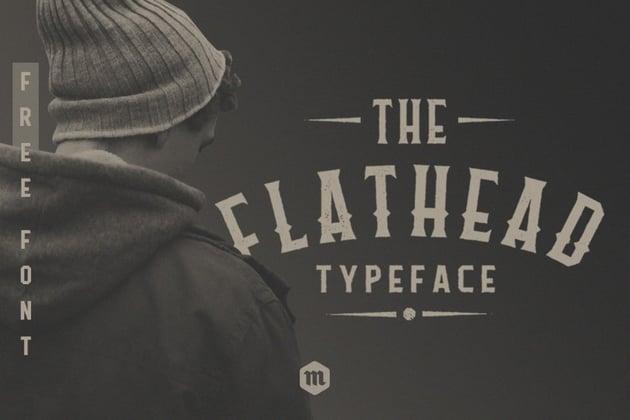 flathead modern gothic fonts