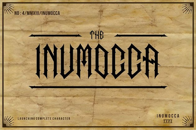 inumocca german gothic font