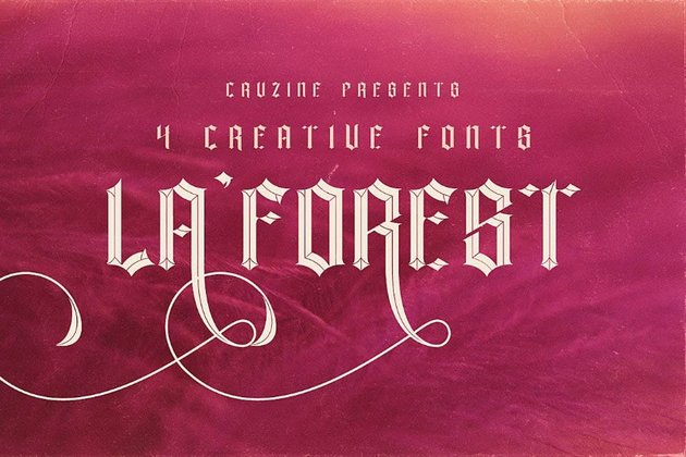 la forest old english gothic font