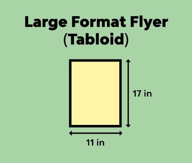large format flyer