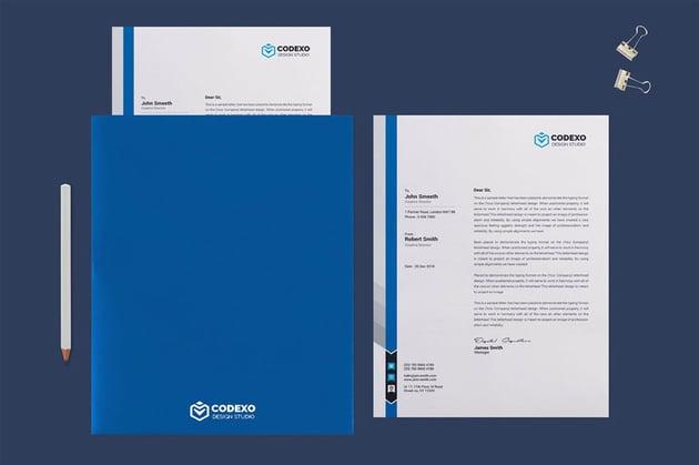 Presentation folder mockup template