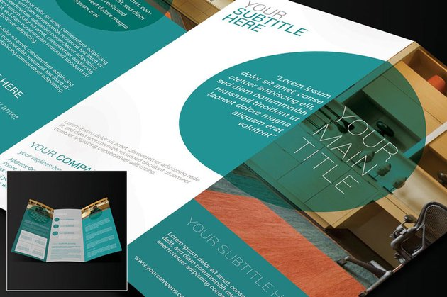 modern trifold brochure layout template