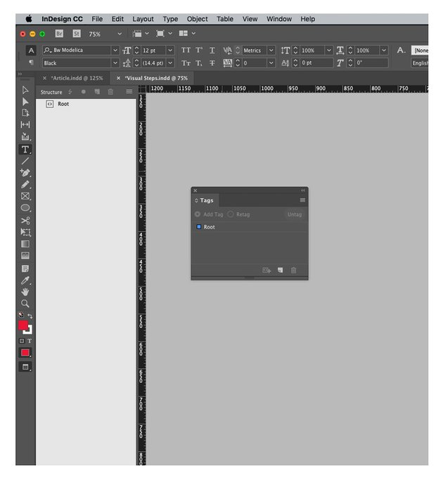 tags panel indesign