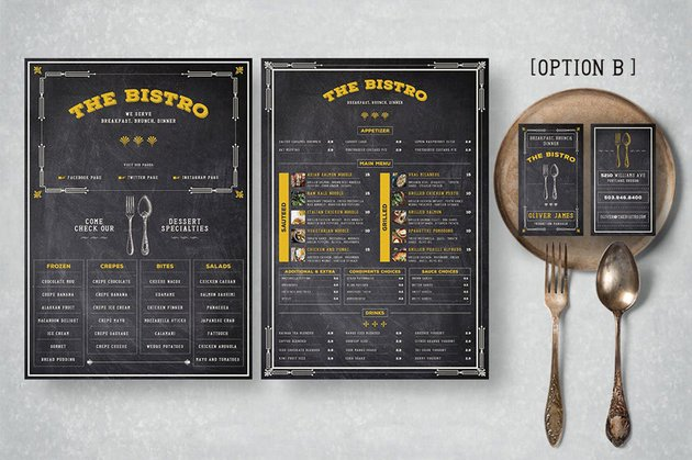 art deco menu