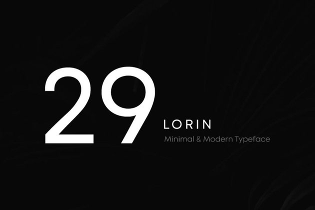 lorin - a font similar to helvetica