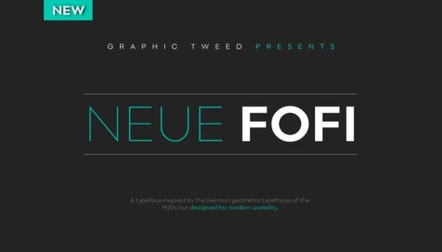 neue fofi - a font similar to helvetica