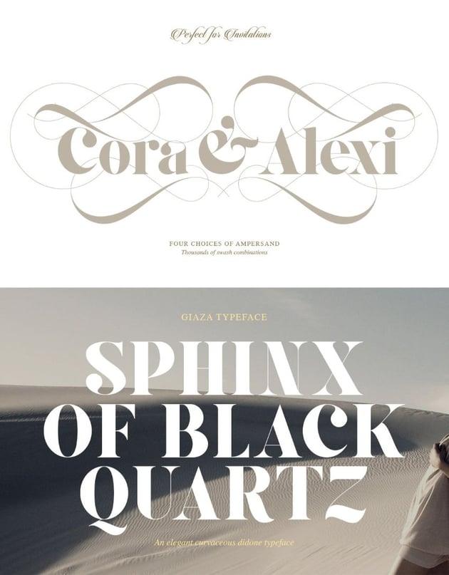 giaza font