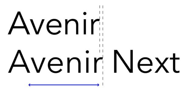 avenir next typeface