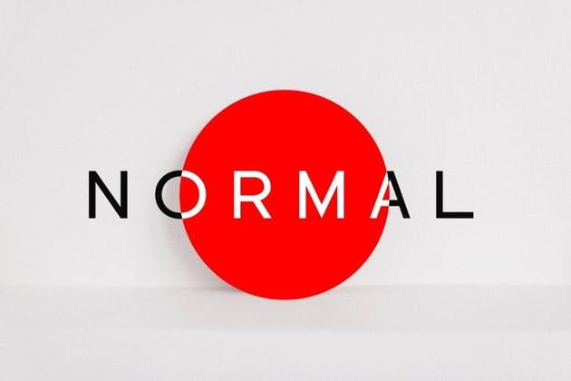 normal font