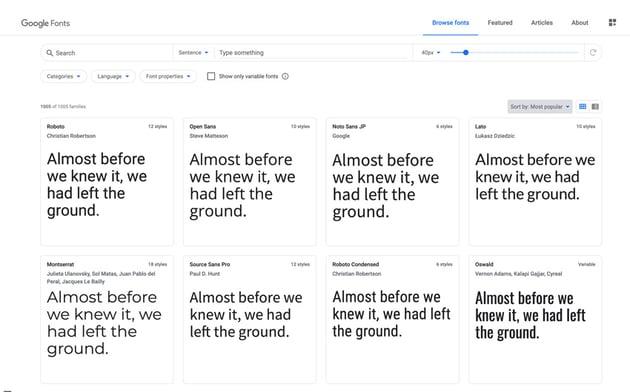 google fonts open sans