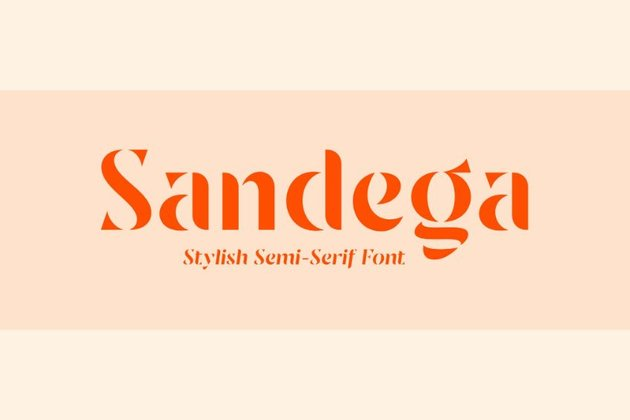 sandega stencil font