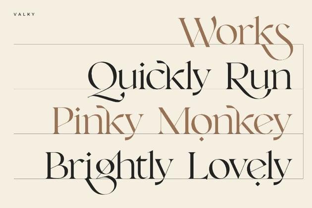 valky serif font