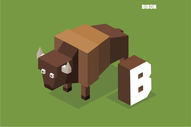 b for bison lego