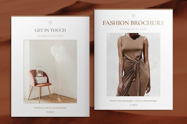 stack brochure fashion