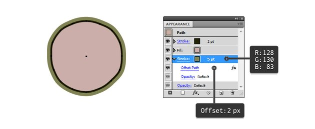 create outside seaweed with Offset path