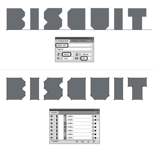 type the biscuit text