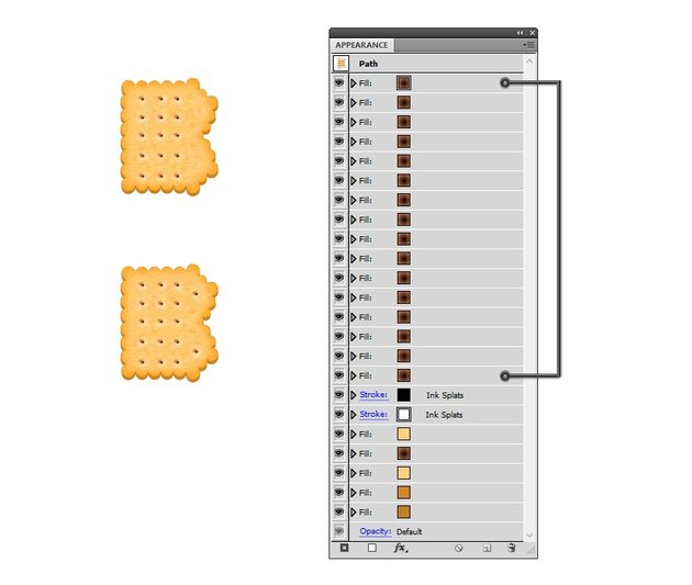 create the last two biscuit holes on B