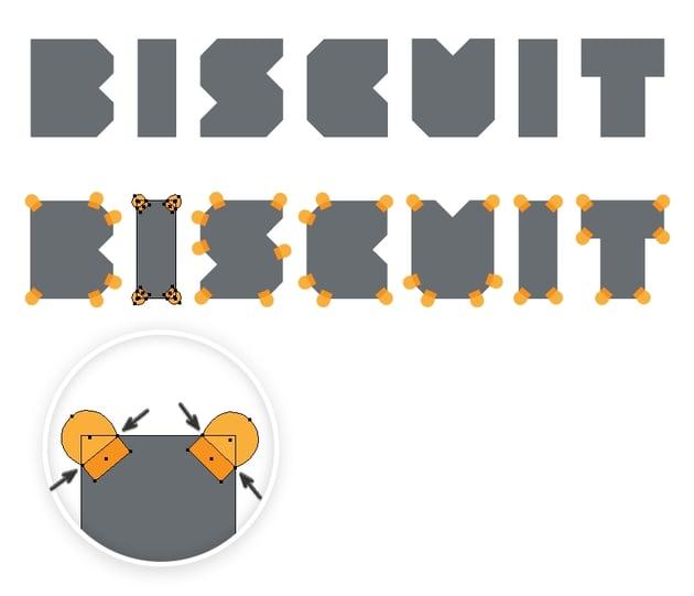 arrange the big corners of biscuit