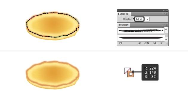 create browned edges on pancake