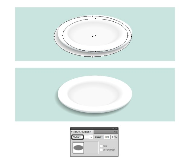 create shadow under the plate