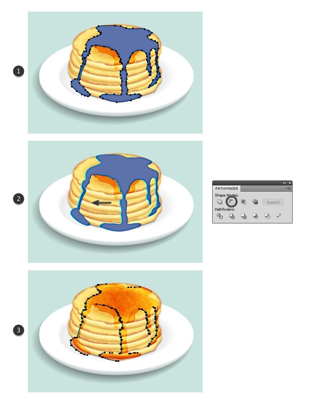 create shadow shape for syrup