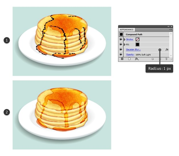 create shadow for flowing syrup
