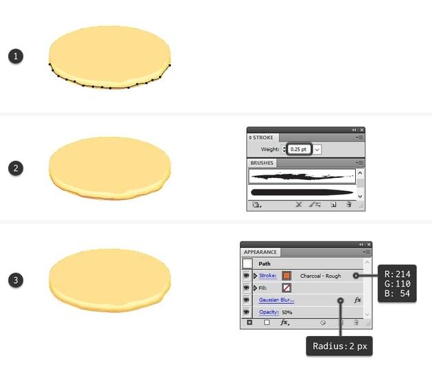 create golden brown edge on pancake bottom
