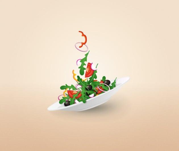 salad plate vector illustration adobe illustrator tutorial