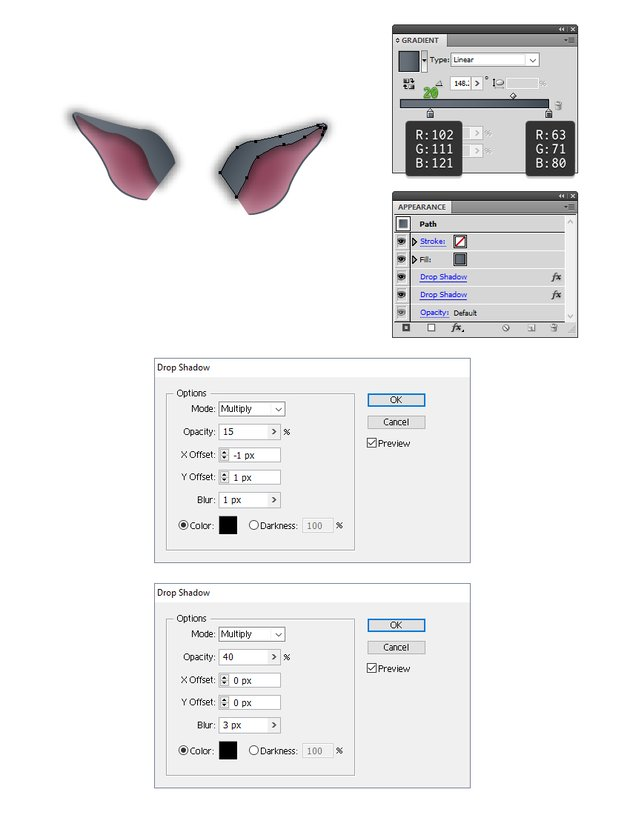 how to color the smaller part of the bats ear