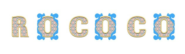 multiply the big acanthus leaves for letters O