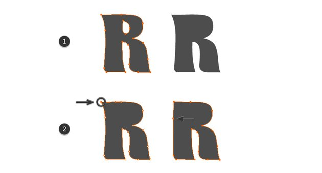 how to modify the letter R