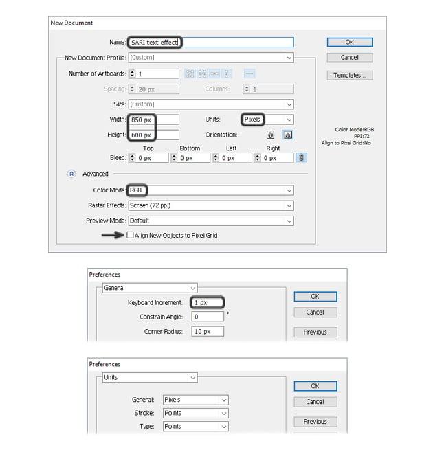 how to open new illustrator document